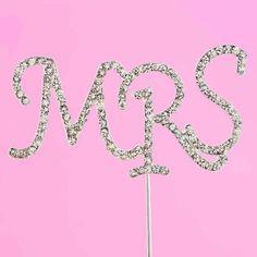 Mrs Crystal Cake Topper   Wedding Paraphernalia Wedding Cake Toppers, Wedding Cakes, Crystal Cake, Wedding Attire, Crystals, Wedding Gown Cakes, Cake Wedding, Crystal, Wedding Cake