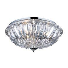 Crystal Flushmounts 3 Light Flushmount In Polished Chrome 31242/3