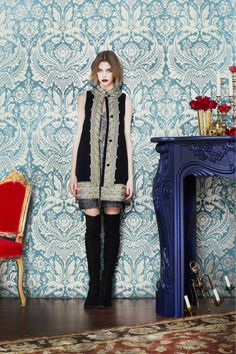an interesting look for a collection that mostly looks like it could come from J. Crew...Alice + Olivia, Look 26, Fall 2013 RTW