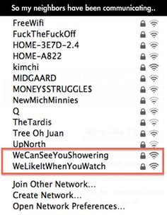 My neighbors are unique...