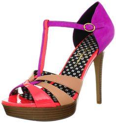Jessica Simpson Women's Bentley Platform Sandal,Fluorescent Papaya Combo Patent,6 M US