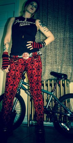 Red and Black Damask Bondage Pants by Messinasalter on Etsy, $140.00 Sale Store, Damask, Stretch Fabric, Red, Pants, How To Wear, Etsy, Clothes, Black