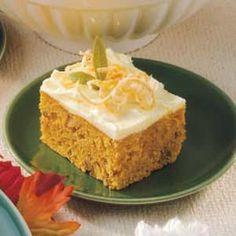 Pumpkin Orange Cake. Mild Spice. From Taste of Home.