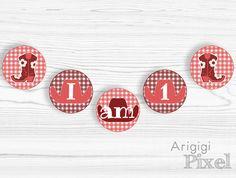 #1st #girl #birthday #banner I am 1 #highchair #banner by ArigigiPixel, $5.00