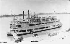 Steamer Idlewild was launched in October of 1914, and eventually became known as the Belle of Louisville.