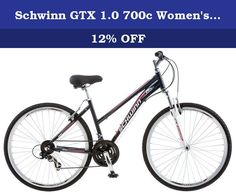 Schwinn GTX 1.0 700c Women's Dual Sport Bike, 700c Wheel & 16-Inch/Small frame, Grey. Enjoy riding again on the comfort of a Schwinn. This is a multi-sport hybrid style bike which means it can be everything you want it to be, and more! Ride it around the neighborhood with the kids, take it to the store to grab sandwiches, or take a day trip with your pals. The Schwinn GTX 1 is up for anything. Featuring 21 speeds with a Shimano derailleur, versatile tires and a front suspension fork to…
