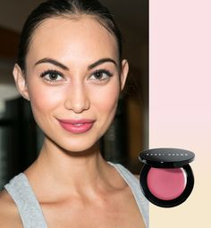 "Beautiful, fresh everyday look by Bobbi Brown. Hair & makeup for Fall 2013 at the Holmes & Yang fashion show. Bobbi Brown used lots of wearable pinks. ""Dewy faces and feminine, raspberry-stained lips provided a nice balance against the masculine textures of the collection,"" says Brown."