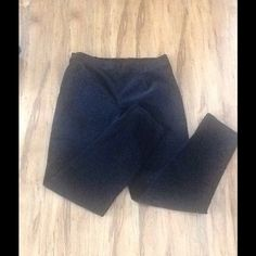 Beautiful Black Velvet Pants Beautiful black velvet pants. Elastic back. Worn twice-perfect condition. Size large (12-14). Fabric is 97%  Cotton & 3% Spandex. Very pretty on. White Stag Pants Straight Leg