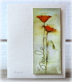 FS284 Flower by Biggan at SCS. Used negative of Memory Box Prim Poppy die to create this design. Technique Tuesday sentiment.