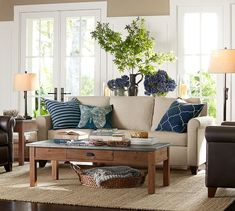 Pottery Barn Sofa On Pinterest Large Sectional