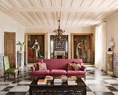 En Andalousie, un passe recompose : Andalousie, palais baroque, Séville, salon.