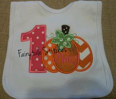 Personalized Boutique Baby Bib Fall by Fairytalestitchesbou, $15.00