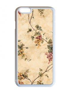 Szőlőindás őszi vintage minta - Apple Iphone 6 plus tok