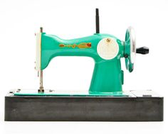 Vintage Toys. Vintage toys: Green Russian sewing machine ...