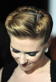 scarlett-johansson-updo Would be lovely for a ball