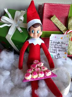 Elf on the Shelf Ideas: Eli's Activity Last Night 12/5 - Raining Hot Coupons