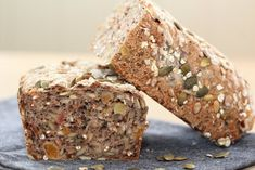 Muslibrød muslirundstykker Banana Bread, Good Food, Healthy Recipes, Baking, Desserts, Creative, Christmas, Natal, Postres