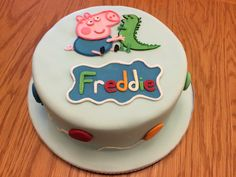 Peppa Pig 'George' cake by PippiBakes