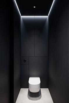 Designed by hilight. Located in Warsaw, Poland. Washroom Design, Bathroom Design Luxury, Modern Bathroom Design, Modern Toilet Design, Small Toilet Room, Small Bathroom, Bathrooms, Rv Bathroom, Wc Design
