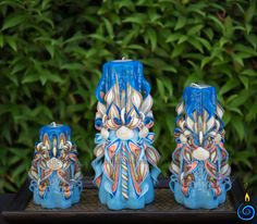 Сarved candles decor shells set 6 | CANDLEBOOM.COM