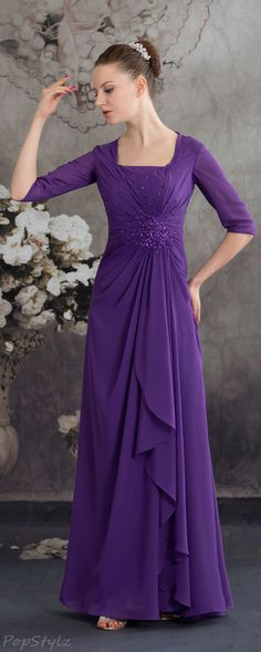 Heyivogue 4574 Beaded Ruched Evening Gown
