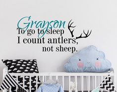 To Go To Sleep I Count Antlers Not Sheep Wall Decal by PonyDecal