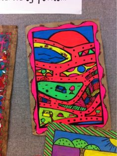 amate painting w/neon paint on brown butcher paper. epic. Art at Becker Middle School