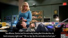 I love how Garcia is trying to help him not be so upset
