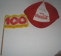 Vintage Coca Cola Coke Felt Baseball Cap and 100 by vintagehouses