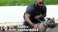 Watch This Guy Slowly Win Over His Rescue Dog Who Was Scared Of Men | Th... Small Acts Of Kindness, Human Kindness, Rescue Dogs, Animal Rescue, Chihuahua Mix, Pit Bull Love, Animal Species, Service Dogs, Pet Accessories