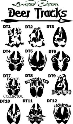 Limited Edition Hunting Deer Tracks Decals! 8in One Color $10 plus shipping!
