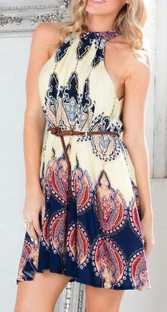 Baroque Printed Shift Dress