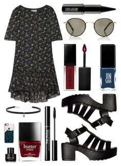 """""""John Lennon Lenses"""" by pattibear ❤ liked on Polyvore featuring Yves Saint Laurent, Garrett Leight, Smashbox, JINsoon, Carbon & Hyde, Casetify, Kenneth Cole and Lord & Berry"""