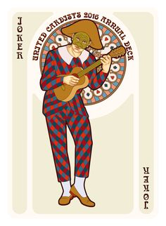 Nouveau Playing Cards Joker - playing cards art, game, playing cards collection, playing cards project, cards collectors, design, illustration, card game, game, cards, cardist, cardistry