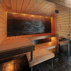 sauna...yes please! Haha I wish!