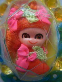 vintage 1967 MATTEL LIDDLE KIDDLES jewelry DOLL FLOWER PIN BROOCH orange hair