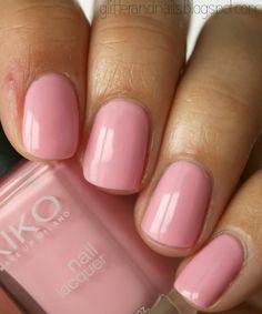 bonbon rose | Glitter and Nails: J'ai trouvé LE rose parfait : Kiko 376 Candy Pink