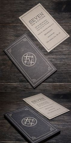 Sophisticated Vintage Style Letterpress Business Card For A Restaurant