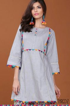 Pakistani Fashion Casual, Pakistani Dress Design, Pakistani Dresses, Designs For Dresses, Dress Neck Designs, Blouse Designs, Stylish Dresses, Simple Dresses, Casual Dresses