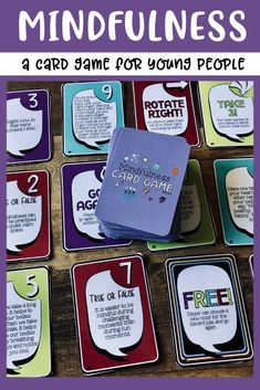 The Mindfulness Card Game for Student Success! Coping Skills for Focus, Calm & Classroom Management, Self Esteem Activities, Counseling Activities, School Counseling, Group Counseling, Social Emotional Learning, Fun Learning, Calm Classroom, Coping Skills, Social Skills