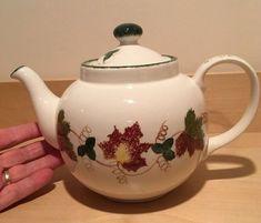 Poole Pottery New England Very Large Teapot Leaf Pattern   | eBay