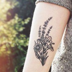 45 Pleasant Floral Tattoo Ideas For Girls Pretty Tattoos, Beautiful Tattoos, Cool Tattoos, Tatoos, Body Art Tattoos, Small Tattoos, Floral Arm Tattoo, Wildflower Tattoo, Botanical Tattoo