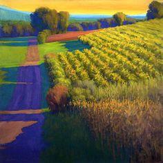 "Ian Roberts: "" Evening at the Vineyards, Tuscany"""