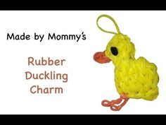 Rainbow Loom Duck Charm -- Revised Rubber Duckling