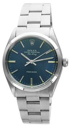 Rolex Stainless Steel Air-King with Blue Dial 1970's
