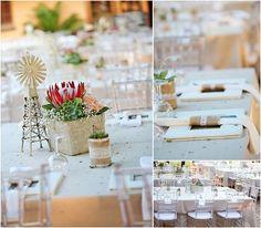 Wind pump & Protea - Google Search Plan My Wedding, Our Wedding, Wedding Venues, Wedding Ideas, Denim Wedding Dresses, Wedding Decorations, Table Decorations, Intimate Weddings, Rustic Weddings