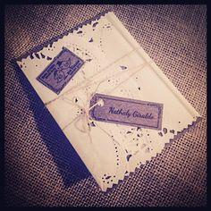 Tarjeta de Matrimonio Vintage por ViCani- Design