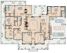 Love it!  First Floor Plan of Traditional House Plan 56319
