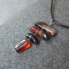 Gem stone pendant necklace   Carnelian by NaturesArtMelbourne,