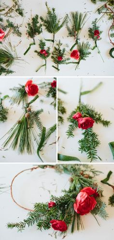 Today we are going to show you how to create a Christmas Crown! Just a slight variation of the Floral Crown post we had earlier this summer (thanks to the talen